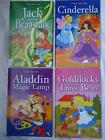 CHILDREN'S CLASSIC FAIRY TALES BOOKS - 4 TITLES - JACK AND THE BEANSTALK ETC....