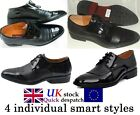 FASHIONABLE MEN ITALIAN STYLE PATENT PARTY WEDDING DESIGNER OFFICE MAN SHOES UK