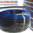 4-Pin RGB Extension Wire Cable Cord 5M 10M 15M 30M 50M For 3528 5050 LED Strip