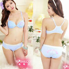 Bra Set Lace Bras Lot Panty Womens Sexy Cute Underwear  Size B cup push up