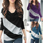 Celeb Style Casual Cotton Long Sleeve Blouse Top T-Shirt T093