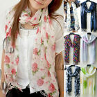 AU SELLER Lovely Soft Cotton&Linen Flower print Wrap SCARF/SHAWL sc003
