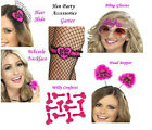 SMIFFY'S HOT PINK / BLACK BRIDE TO BE HEN PARTY GIRLS NIGHT OUT ACCESSORIES