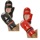 NEW CIMAC T-SPORT PROFESSIONAL PU CHOP VELCRO STRAP HAND PROTECTORS RED & BLACK