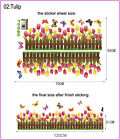 Flower Wall Stickers Home House Baby kids' Children's Room Baseboard Decor Mural