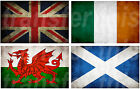 BRITISH IRISH WELSH SCOTTISH FLAG IRON ON TSHIRT TRANSFER OR STICKER WALL DECAL