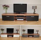 2 Metre Large 2 Door TV Cabinet Plasma Bench Stand Unit Black Walnut Grey White