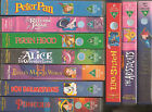 WALT DISNEY VIDEOS USED ASSORTED TITLES SOME RARE