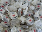 SILVER JUST MARRIED ROCK SWEETS WEDDING FAVOURS WRAPPED