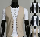 NEW Mens Stylish Premium Design Double 5Button Waistcoats Vest UK3 SIZE_VE03