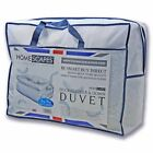 10.5 Tog Duck Feather Down Duvets Quilt Washable Single Double King Size Super