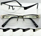 L417 High Quality Metal Semi Rimless Bifocal Lense Reading Glasses/Super fashion