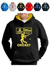 Kids Eat Sleep Cricket Hoodie with Bat Ball gloves pads  and  helmet hoody