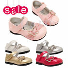 Girls kids Infant Children Diamante Velcro Wedding Bridesmaid Party Shoes Sz 2-7