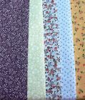 Dolls House Craft Fabric Tiny Leaf and Flower Prints PolyCotton Material