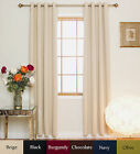 Nickel Grommet Top Insulated Blackout Curtain 84 Inch Length Pair,