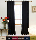 Nickel Grommet Top Insulated Blackout Curtain 96 Inch Length Pair,