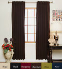 Rod Pocket Thermal Insulated Blackout Curtain 74 Inch Length Pair