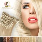 100% Real Indian Remy Hair Clip In Extensions 65g 5pcs set Black Brown Blonde