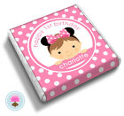 Personalised MINNIE MOUSE Girl's Pink 1st, 2nd, 3rd Birthday Favour Chocolates