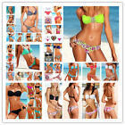 2PCS New Sexy Womens Crystal Top Padded Swimwear Beachwear Bikini Swimsuit S M L