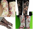1 x Girls Floral Rose LACE Footless 3/4 Length Leggings Tights fits SZ 8-12