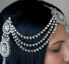 SIDE KUNDAN MATHA PATTI TIKKA PASA HAIR HEAD PIECE CHAIN **SILVER & GOLD**
