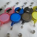 Wholesale Price! Lot 10 ID Badge Holder hold Reel Retractable Key Clip