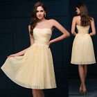 Strapless Womens Short Prom Dress Formal Evening Bridesmaid Gowns Cocktail Dress