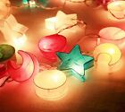 SLO187 20 Christmas Mixed Colored Paper Lantern Patio Party String Lights
