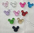 20 SMALL GLITTER SPARKLE MICKEY MINNIE MOUSE RESINS EMBELLISHMENTS FLAT BACKS