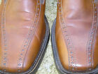 MED BROWN CLASSIC LEATHER BROGUE SLIP ON  - UK 42 - USED BUT FABULOUS
