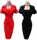 BNWT NEW Vintage Style 50's Pencil Wiggle Cocktail Party Evening Dress Sz 8-18