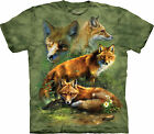 Red Fox Collage Adult  Animals Unisex T Shirt The Mountain