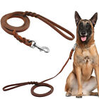 Brown Genuine Leather Dog Lead Pet Leash,Braided,for Small/Medium Breeds