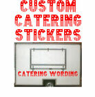 American Style Lettering, Catering Trailer, Burger Van Stickers, Custom Made.
