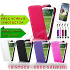 New Leather Flip Case Cover & Screen Protector Fits SAMSUNG GALAXY S4 IV i9500