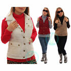 Ladies Bodywarmer Sleeveless Diamond Quilted Jacket Gilet Padded Warm Vest 8 14