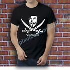 T SHIRT MAGLIA V FOR VENDETTA ANONYMOUS MASK FACE