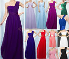 New 13 Colour Bridesmaid Prom Wedding Dress Party Evening One Shoulder Size 6-26
