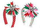 Mud Pie Christmas Holiday Red Pink Polka Dots Jingle Bell Headband #151A009 NWT