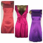 Karen Millen Dress Size 6, Low Back Bow Design Cotton Sateen Orange Pink Purple