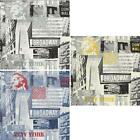 SAMPLE ARTHOUSE OPERA BROADWAY,NY THEMED WALLPAPER BLACK WHITE YELLOW BLUE RED