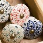 Vintage Chic Ceramic Drawer Knobs, Red Black Green Blue Door Cupboard Handles