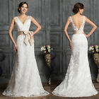 Luxury Lace Wedding Bridal Bridesmaid Dress Charming Evening Party Prom Ballgown