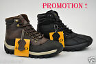 LABO Men's Brown & Black Leather Winter Snow Boots Shoes Waterproof Medium(D, M)