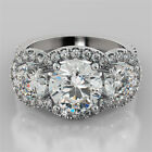 3.98Ct Round Cut Engagement Ring Available in 14K or 18K White Gold