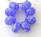BLUE PERIWINKLE Frit * handmade lampwork glass beads - glossy or matte - sra