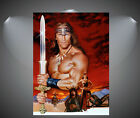 Arnold Schwarzenegger Conan The Barbarian Vintage Movie Poster