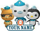 OCTONAUTS PERSONALISED STICKER WALL or IRON ON TRANSFER TSHIRT FABRICS NAME